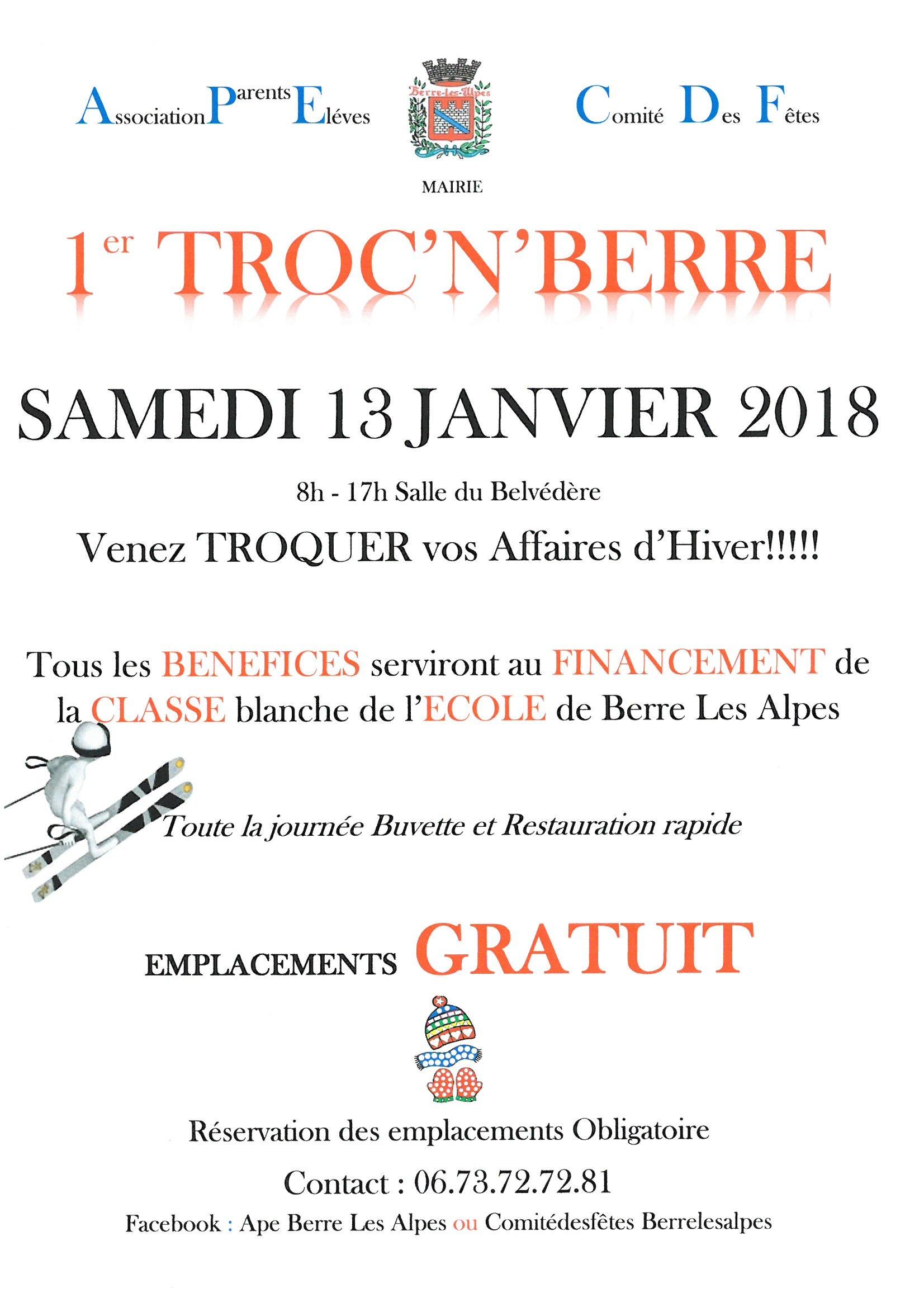 """Troc'n'Berre @ Salle """" Le Belvédère"""""""